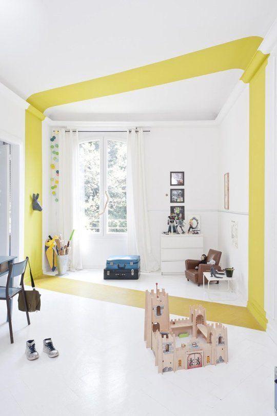 yellow interior decor modern child room