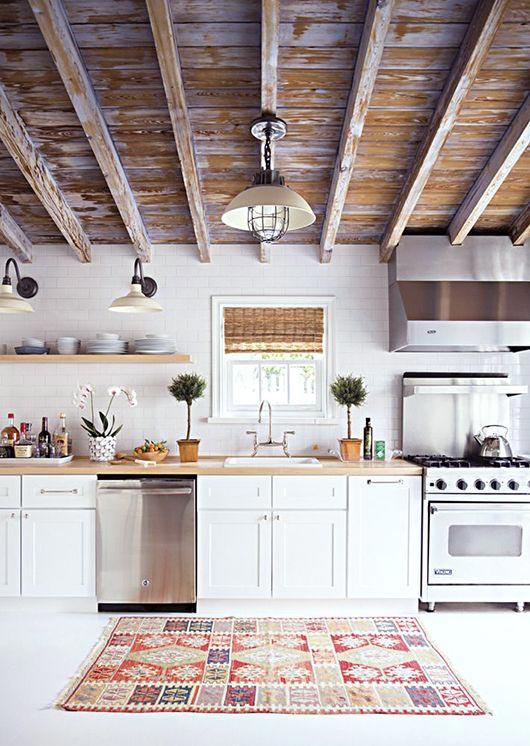 rug in the kitchen, farmhouse kitchen