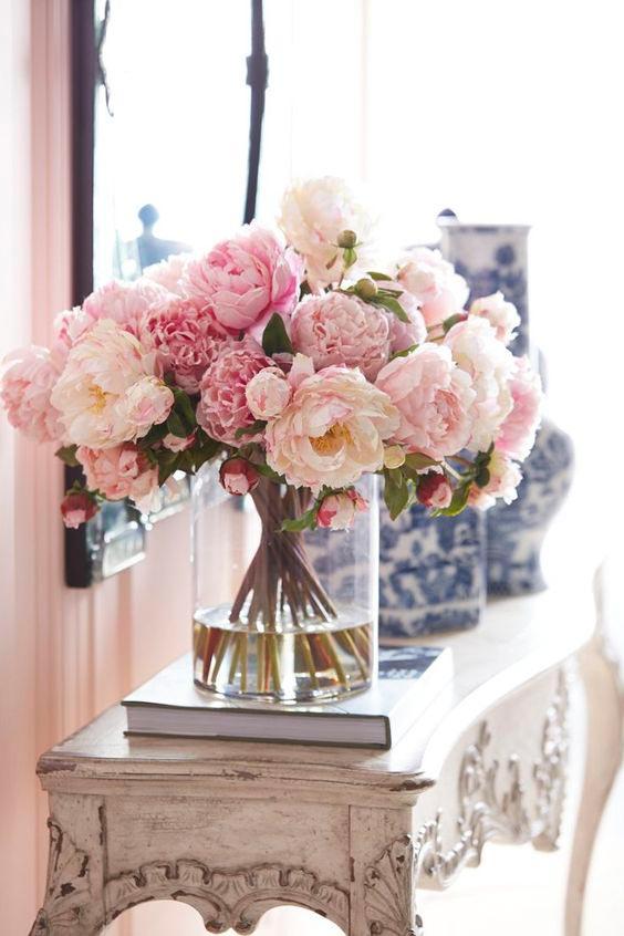 peonies flowers interior decor