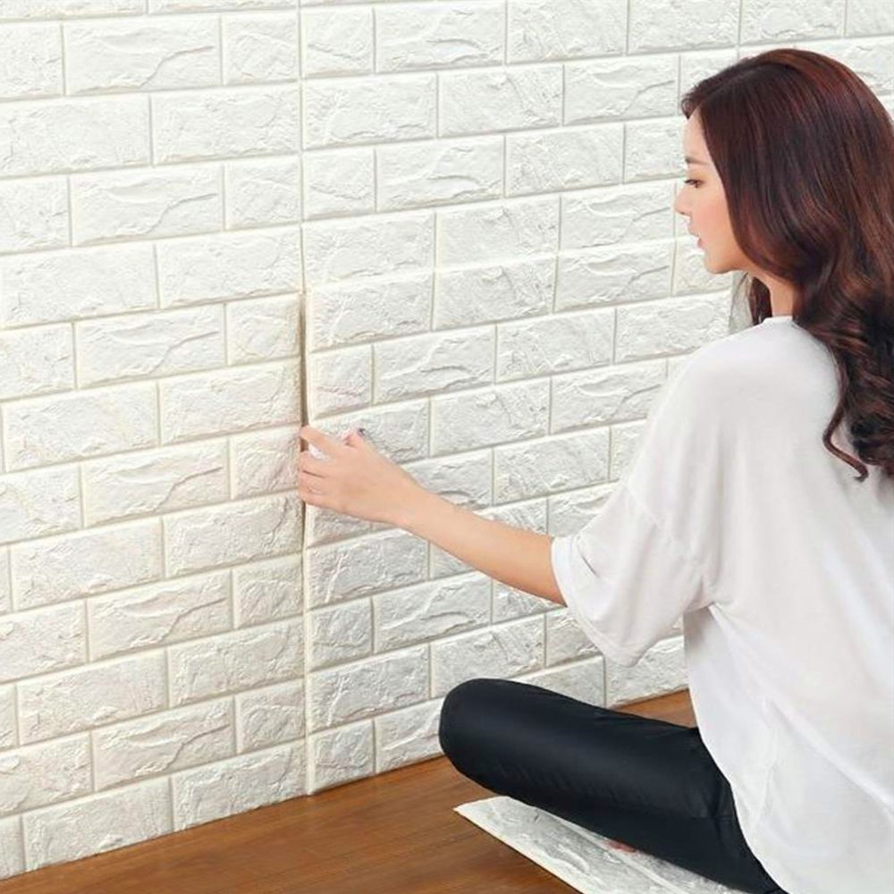 home decor tricks, wall bricks sticker, 3d wallpaper