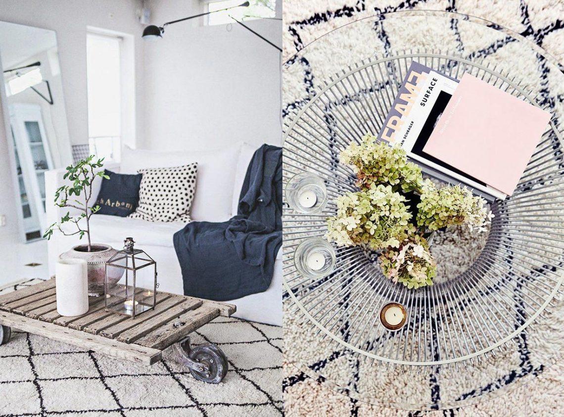moroccan rug, oriental rug, scandinavian living room