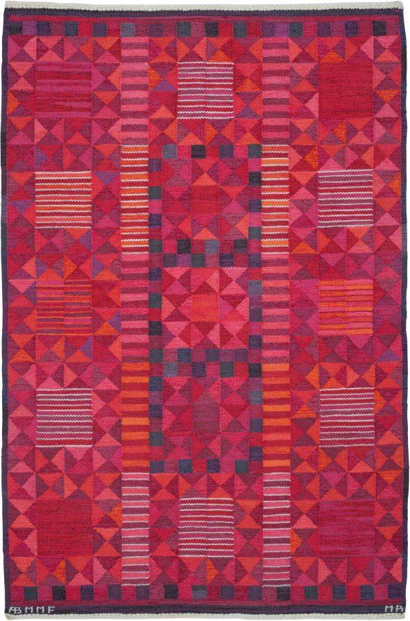 Vintage Scandinavian geometric Rug