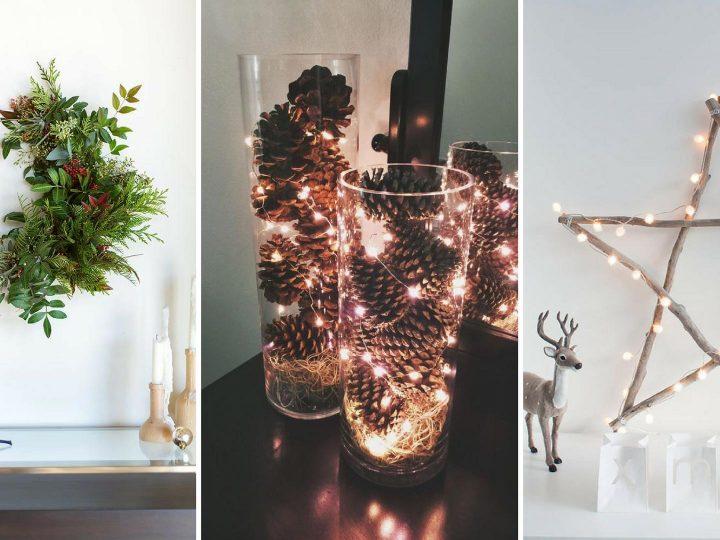 9 Decoraciones simples y elegantes de Navidad DIY en estilo escandinavo