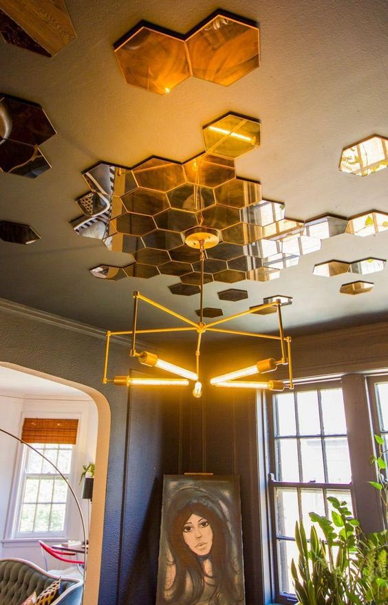 2018-interior-decor-trends-statement-ceiling-tiles