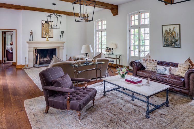 antique rug living room