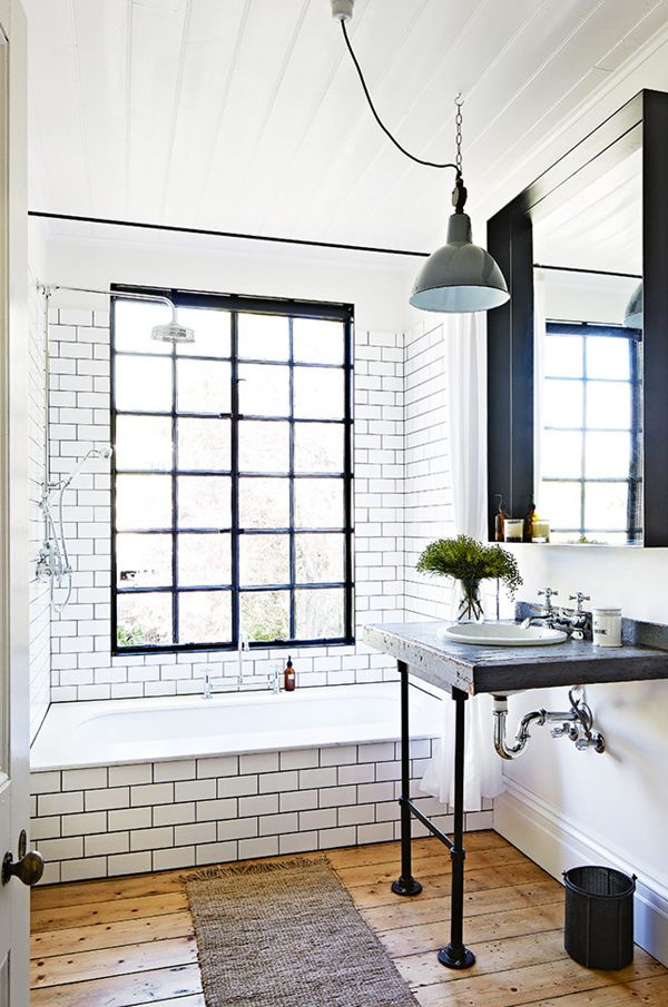concrete sink, wabi sabi farmhouse bathroom