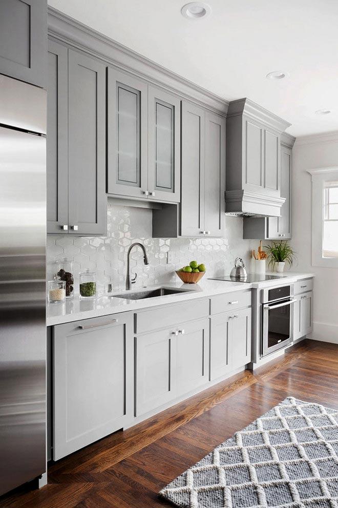 interior decor trends 2018, grey kitchen cabinets