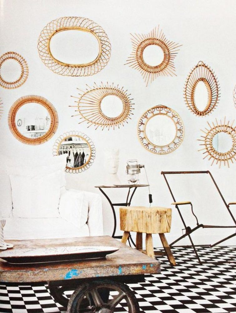 interior-decor-trends-2018-rattan-mirrors-wall