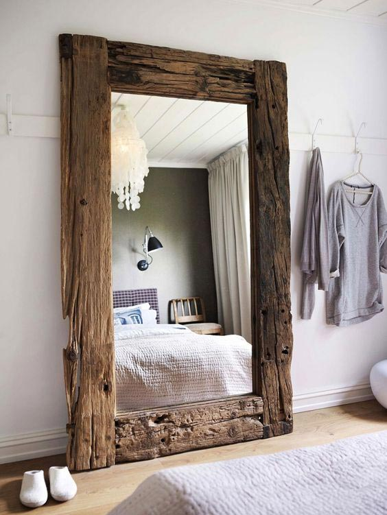 scandinadian countryside bedroom, wooden frame, interior decor trends 2018