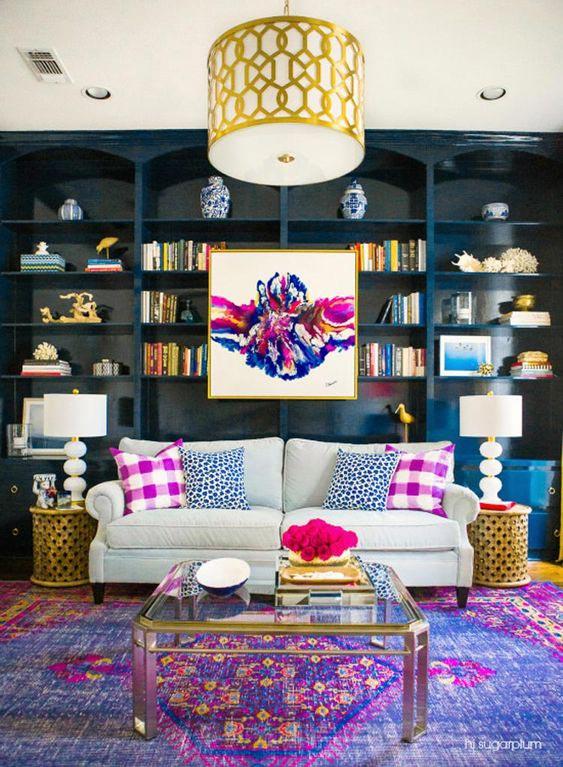 antique oriental rug in living room