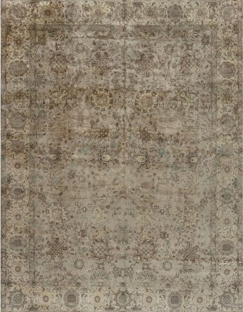 Swedish Flat-Weave Rug by Judith Johanson in Beige, Brown, Gold, Gray BB7359