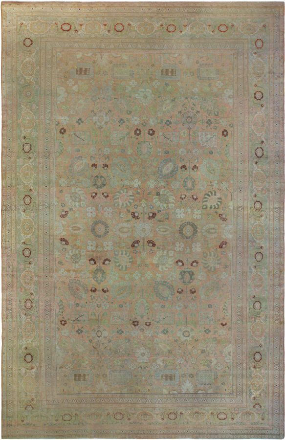 antique oriental rug in sage color
