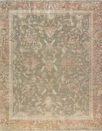 Antique Turkish Oushak Carpet BB6686