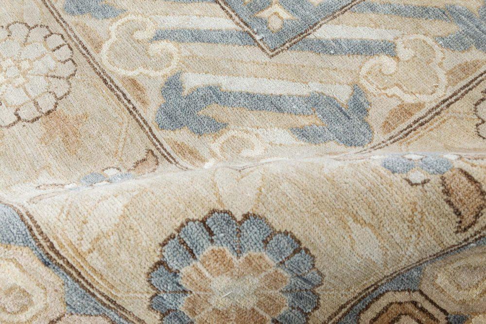 Samarkand Rug in Blue and Gold Shades N11778