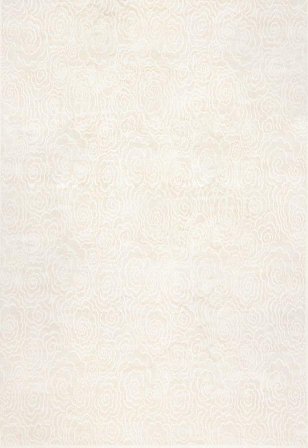 tapete de área branca na sala de estar