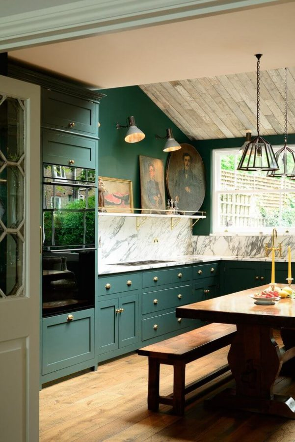 hunter green kitchen paint