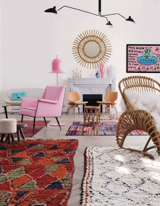 Moroccan rugs for living room, statement rugs, layering rugs