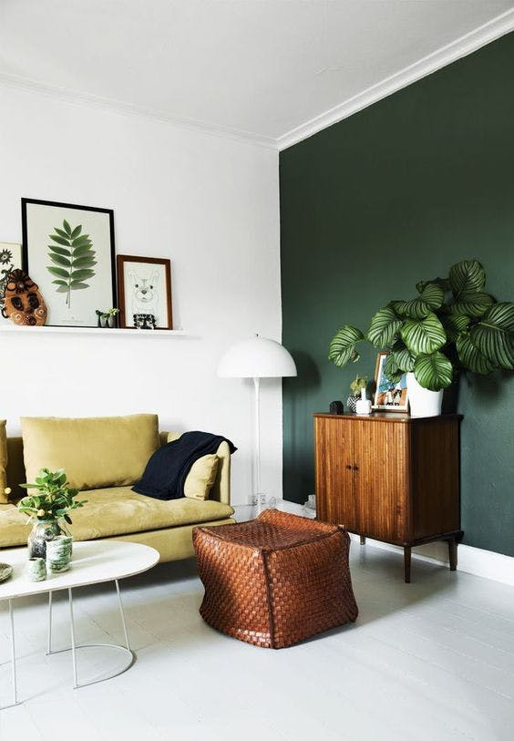 hunter green wall paint