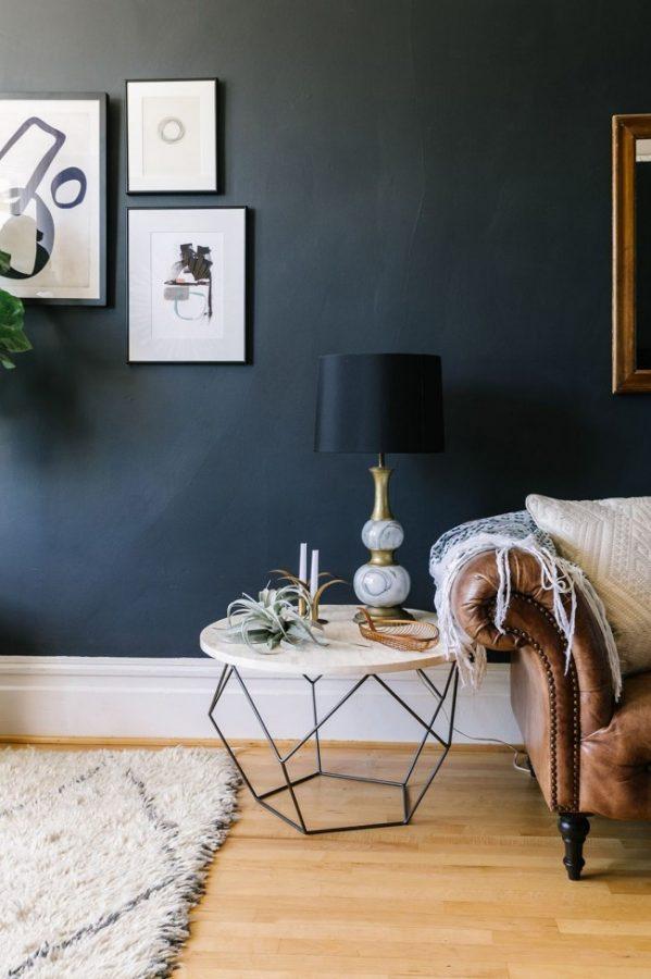 geometric table, interior design trends