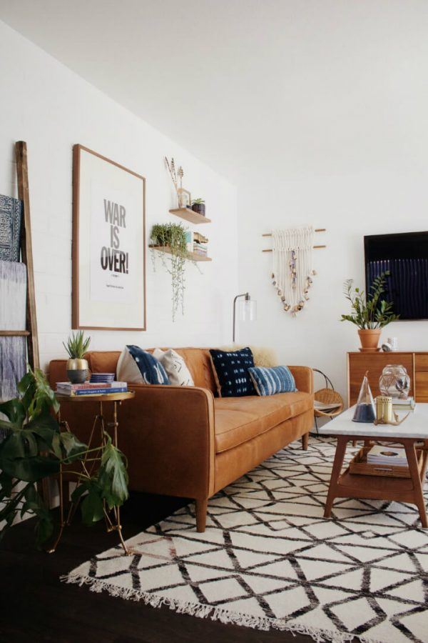 statement rugs, Moroccan rug in the living room