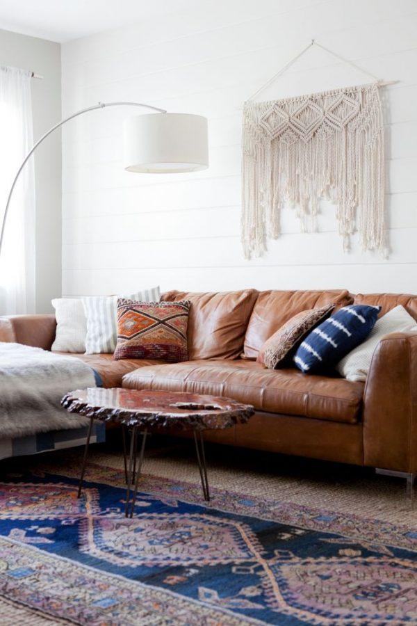 statement rugs, klim oriental rug in living room