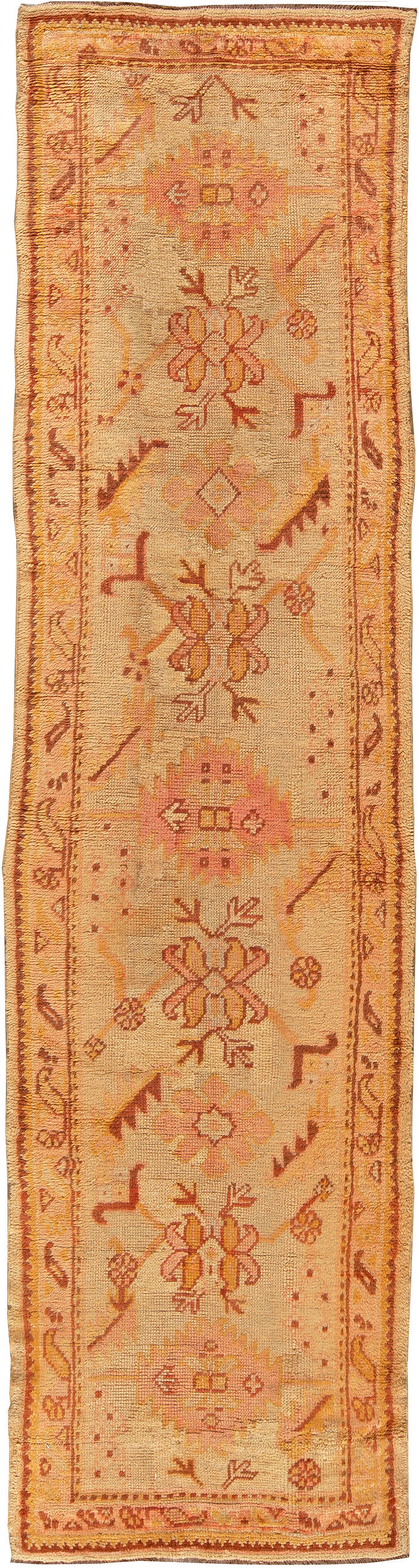 Antique Turkish Oushak Runner BB5403
