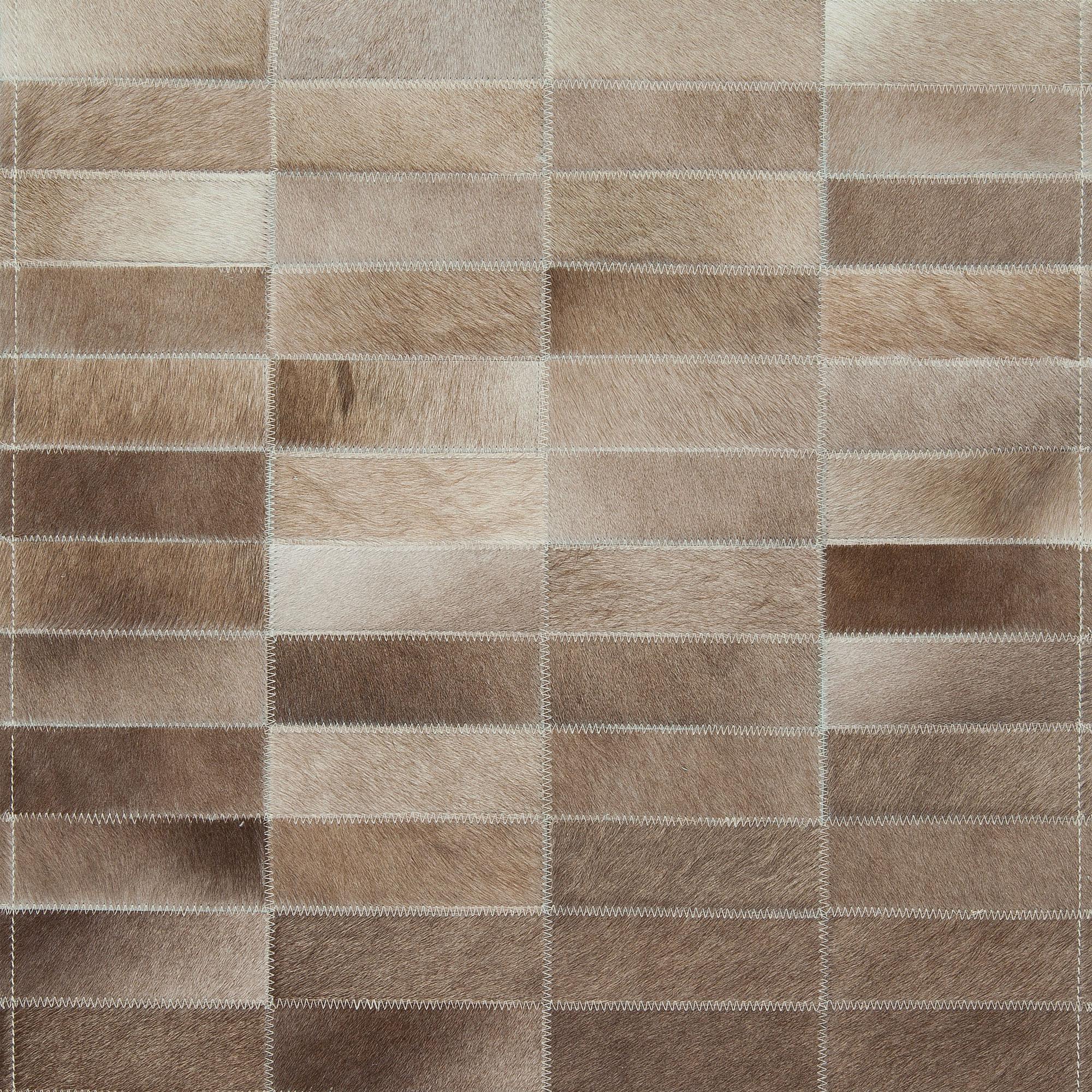 Custom Hair on Hide Rug with Tiles Design S17653