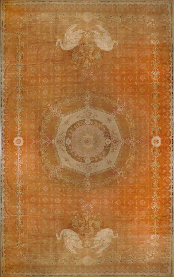 Oversized Antique French Directoire Savounery Carpet BB5178