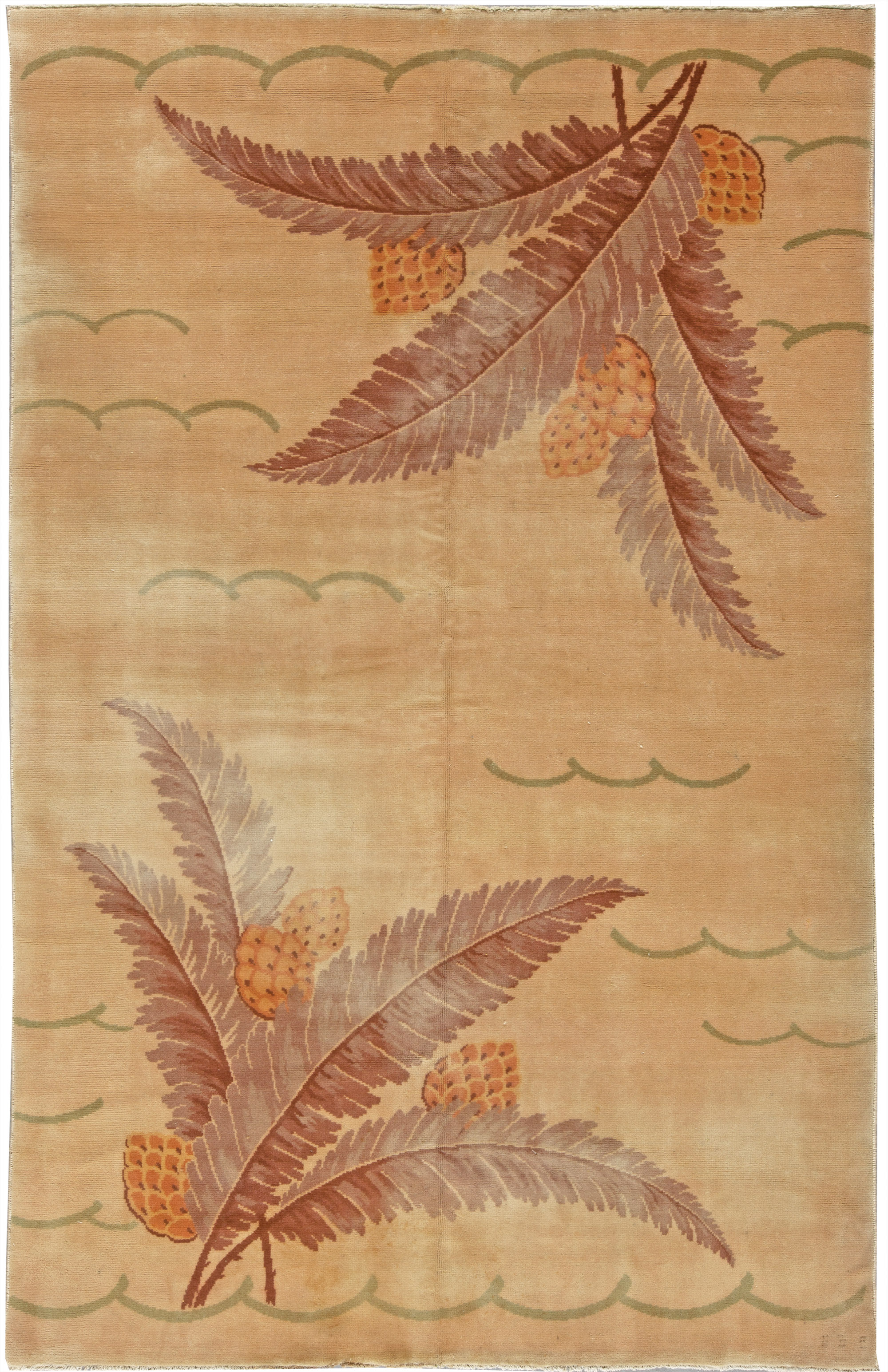 Vintage French Deco Rug BB5406