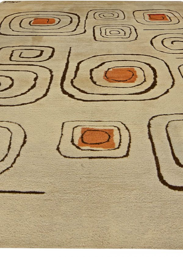Vintage Deco Rug (Churos) signed by Olga Fisch BB5990