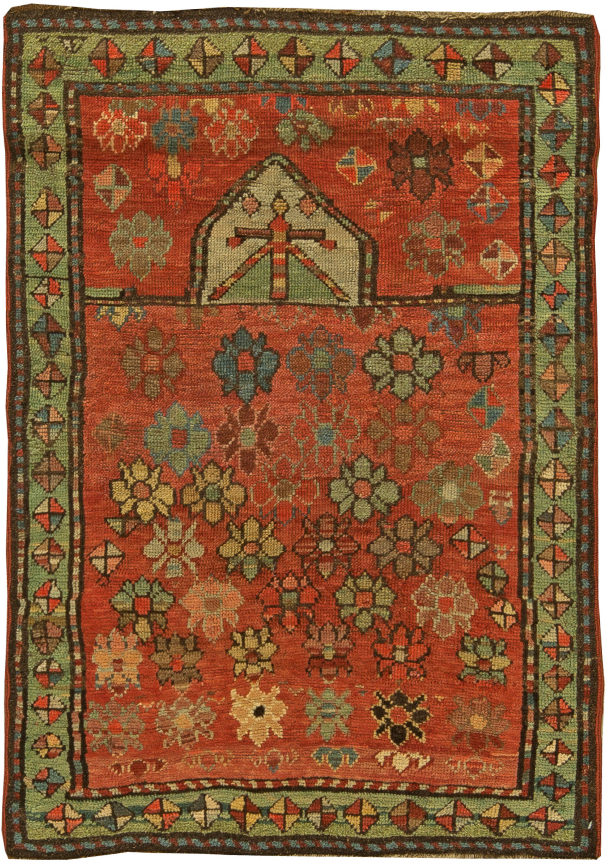 Caucasian Vintage Rug Bb6173 By Dlb