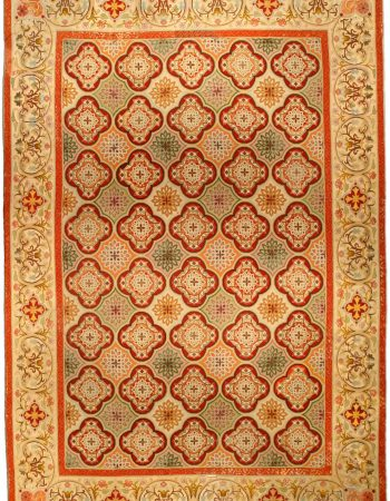Antique English  Needlework Carpet BB6486