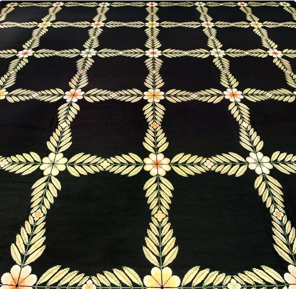 Oversized Antique Portuguese Needlework Rug BB3991