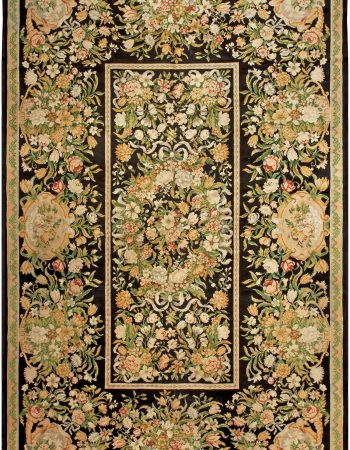 Antique Savonnerie Brown Carpet BB1414