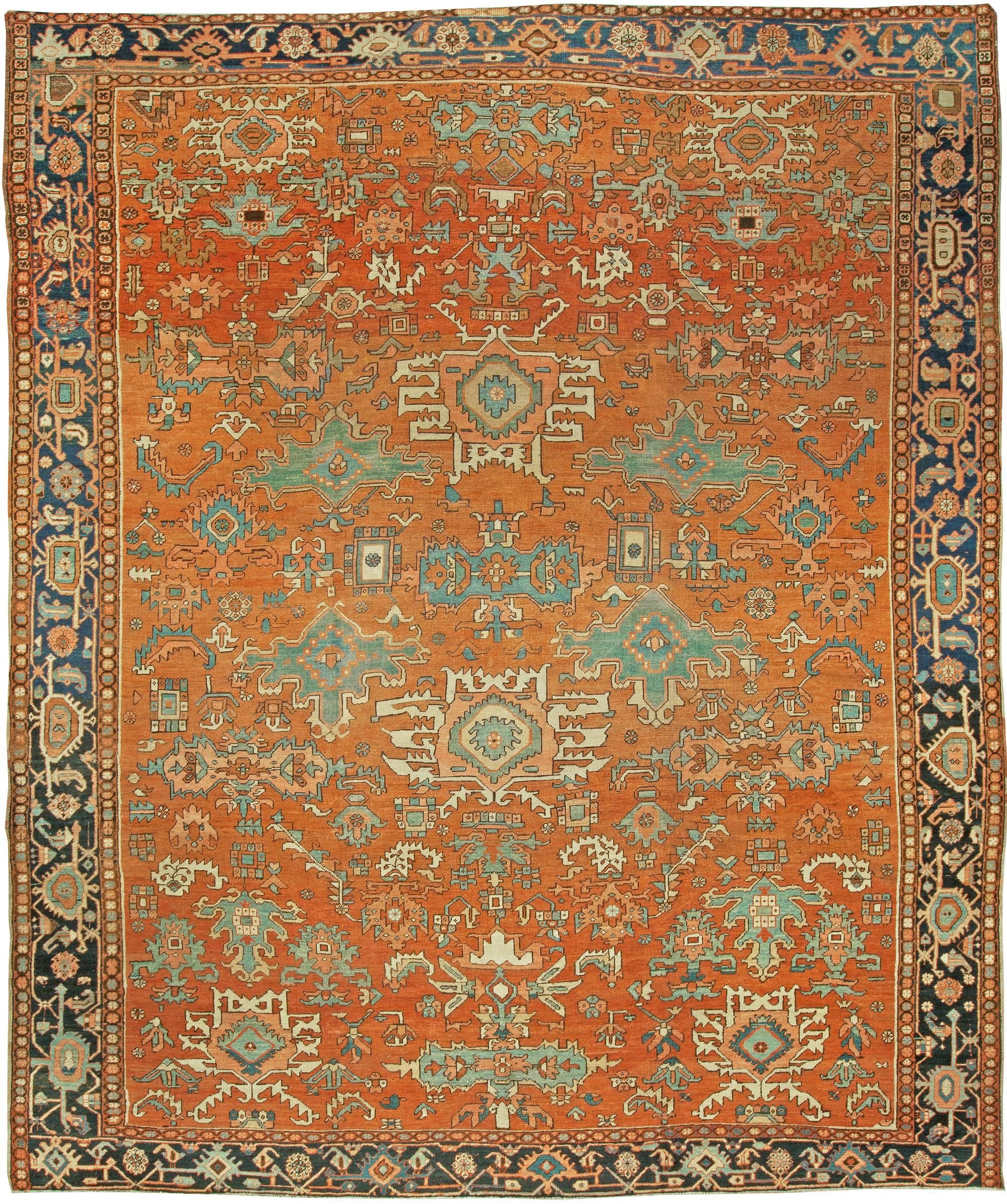 Antique Persian Heriz Rug BB5792