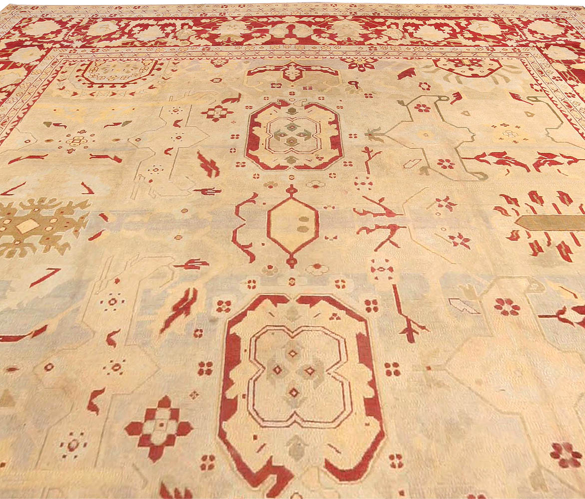 Arts And Crafts Rugs With Exciting Indian Agra Rug Design: Antique Indian Agra Rug BB3576 By Doris Leslie Blau
