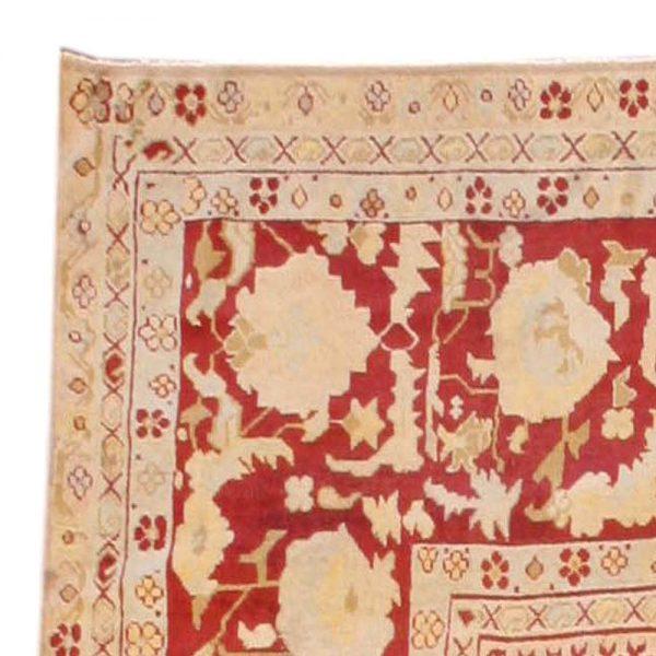 Antique Indian Agra Rug BB3576