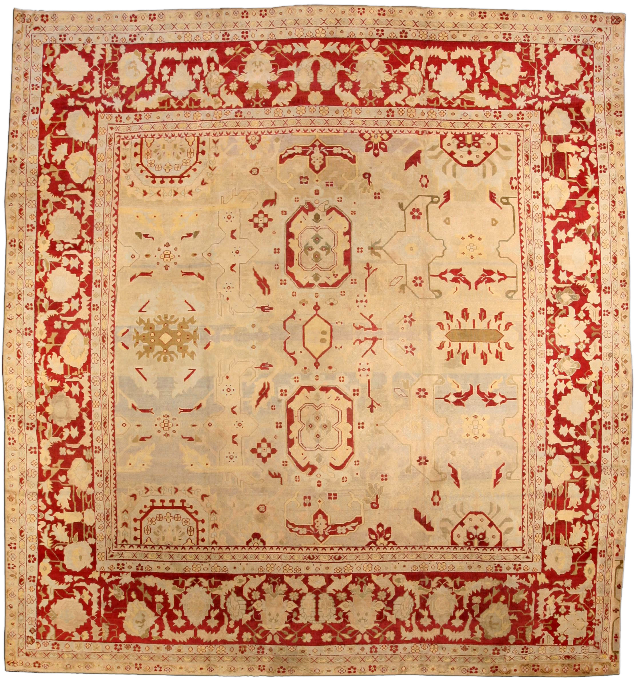 Antique Indian Agra Rug BB3576