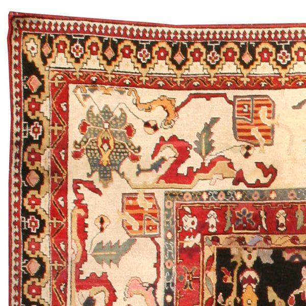 Antiguidade indiana Agra Tapete BB0280