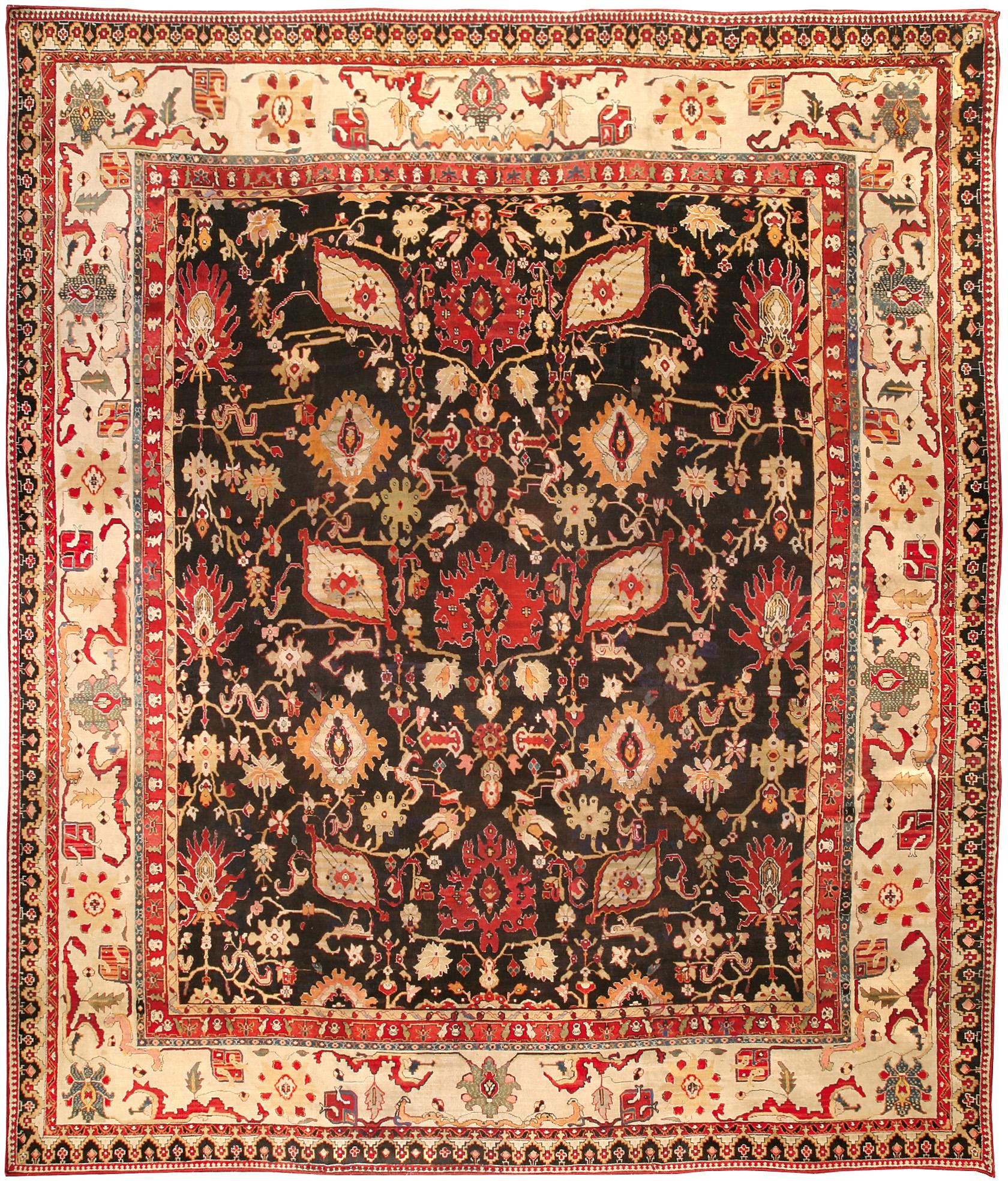 Antique Indian Agra Carpet BB0280