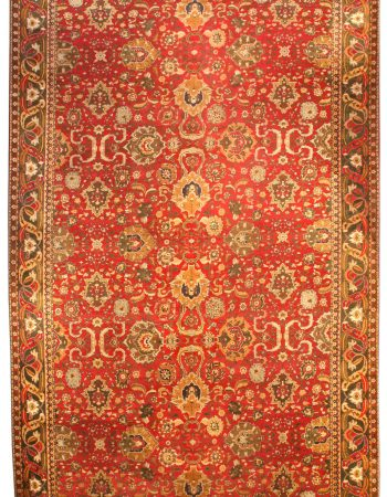 Antique Indian Agra Carpet BB3799
