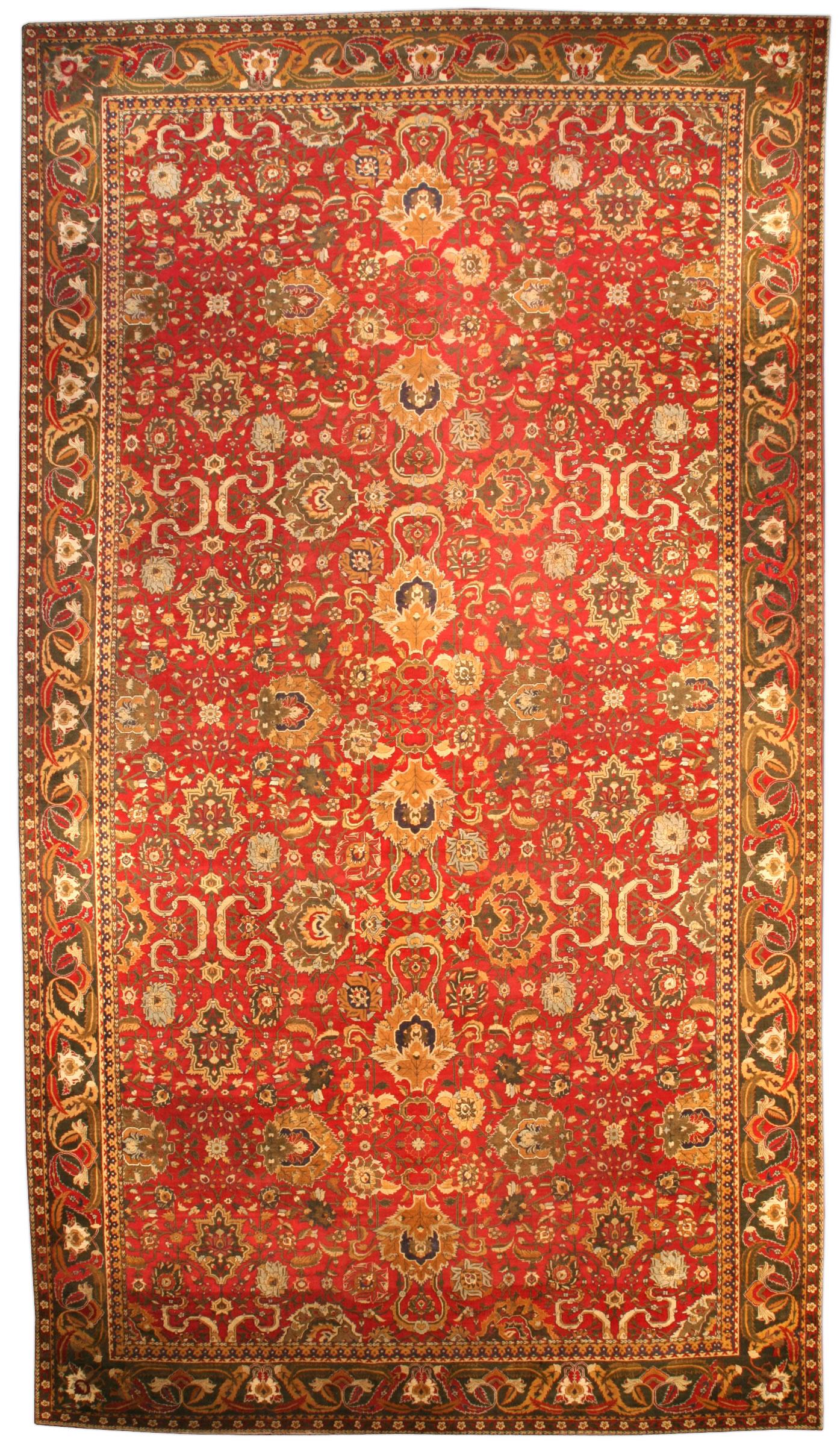 Antique Indian Agra Carpet BB3799
