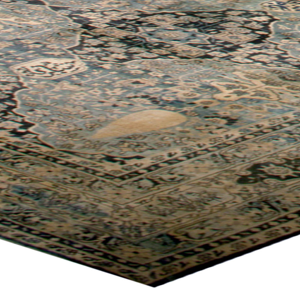 Antique Indian Rugs: Oversized Antique Indian Rug BB5118 By Doris Leslie Blau