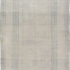 Vintage Indian Cotton Rug in Blue and Ivory BB6386