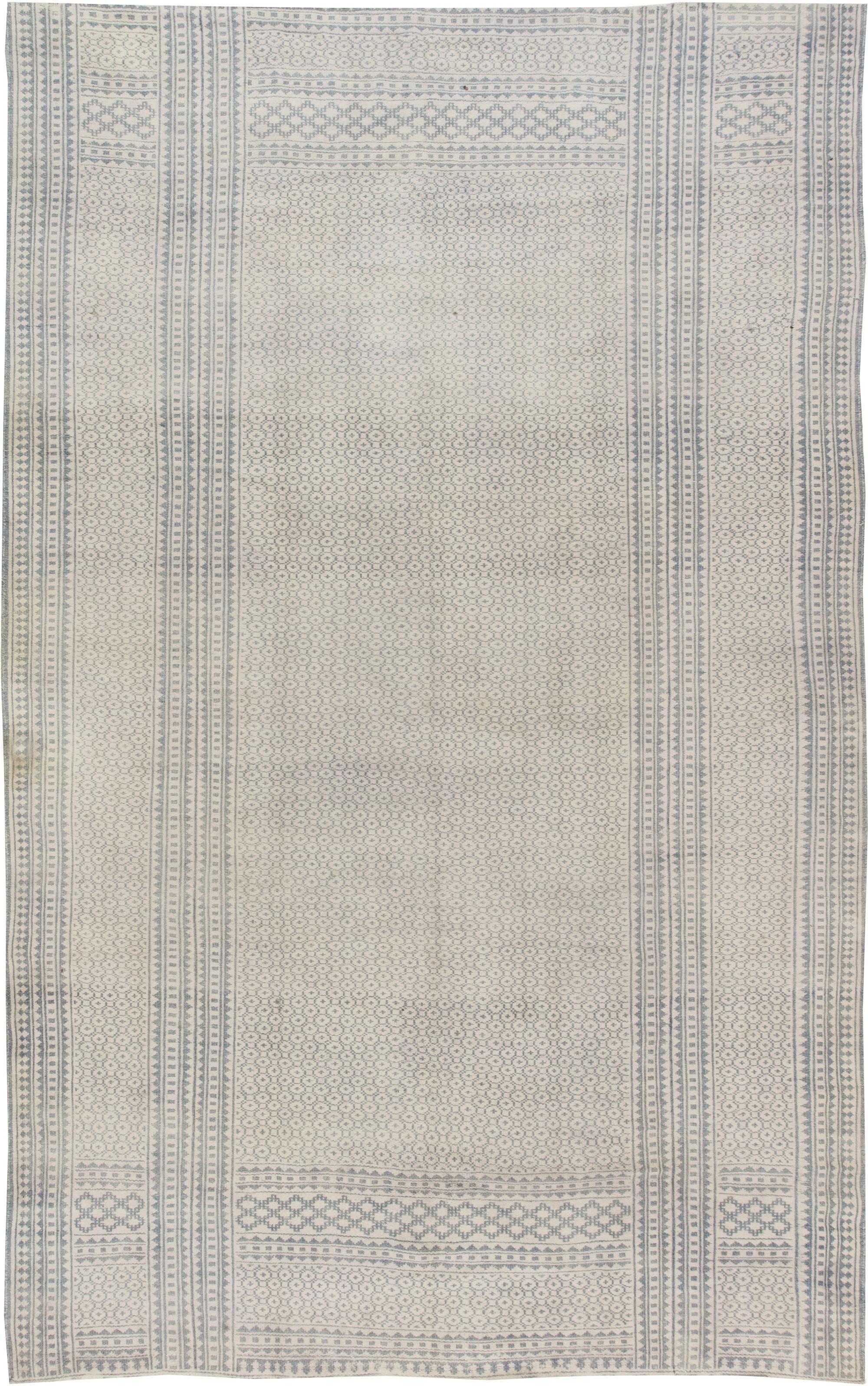 Antique Indian Cotton Flat weave  Carpet BB6386