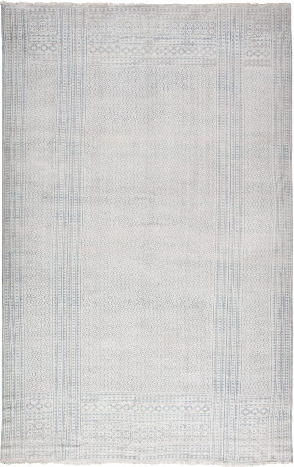 Antike indische Baumwolle Flachgewebe Teppich BB6530