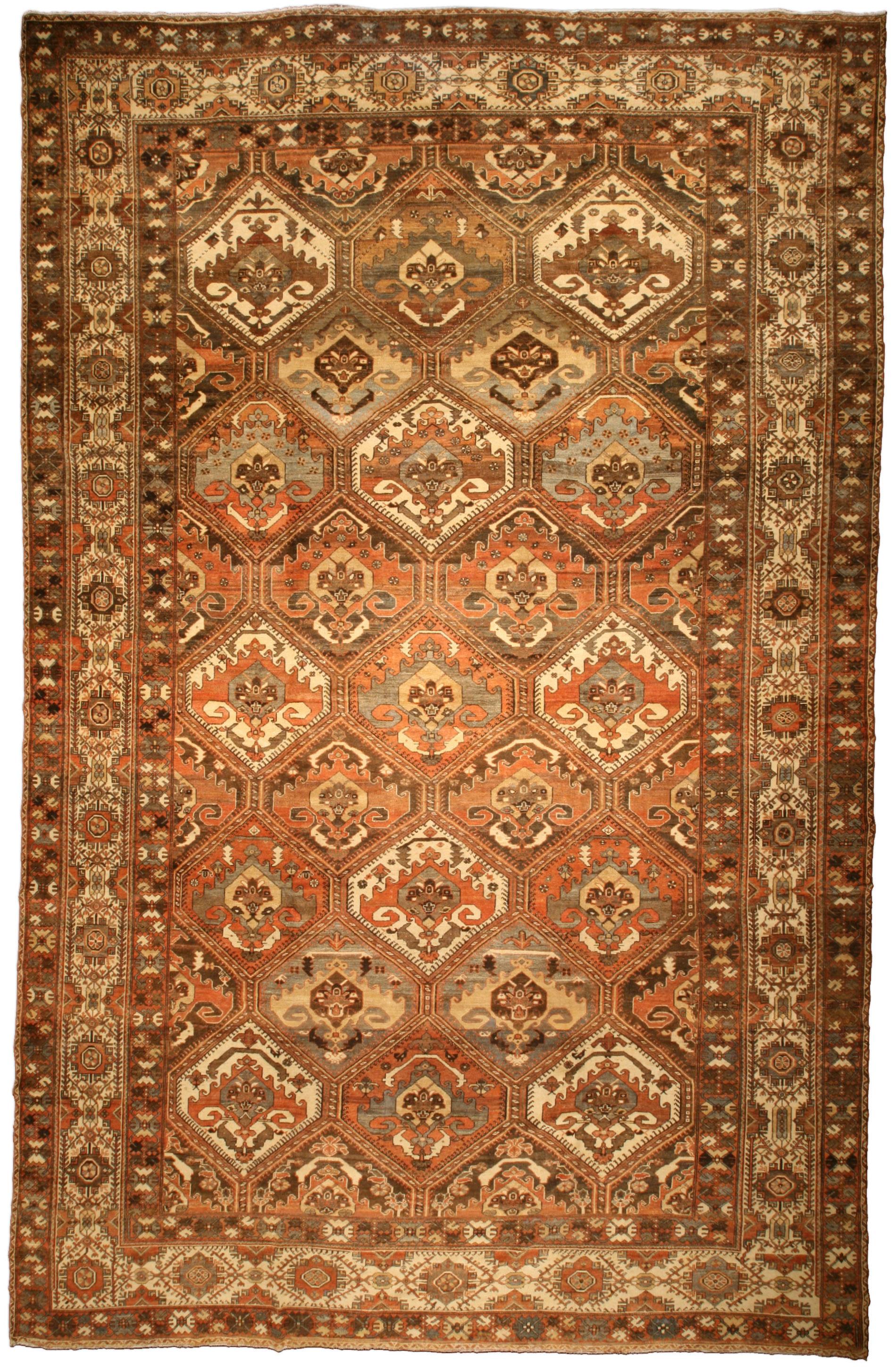 Antique Persian Bakhtiari Rug BB3597