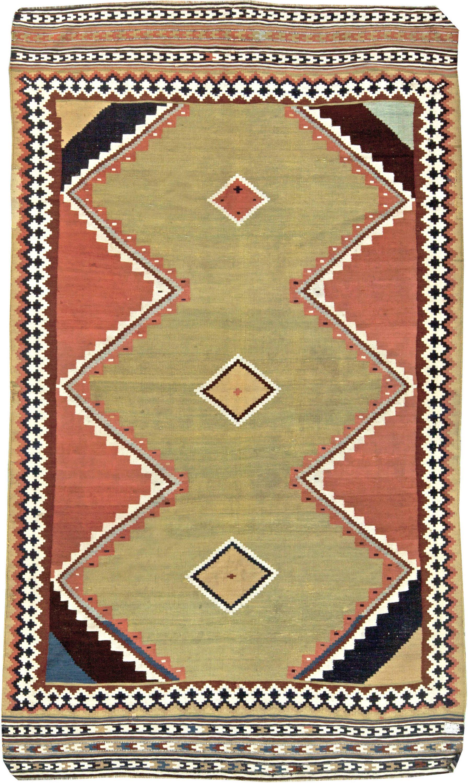 antiguidade-tapete-persa-kilim-geométrico-9 × 5-bb5786