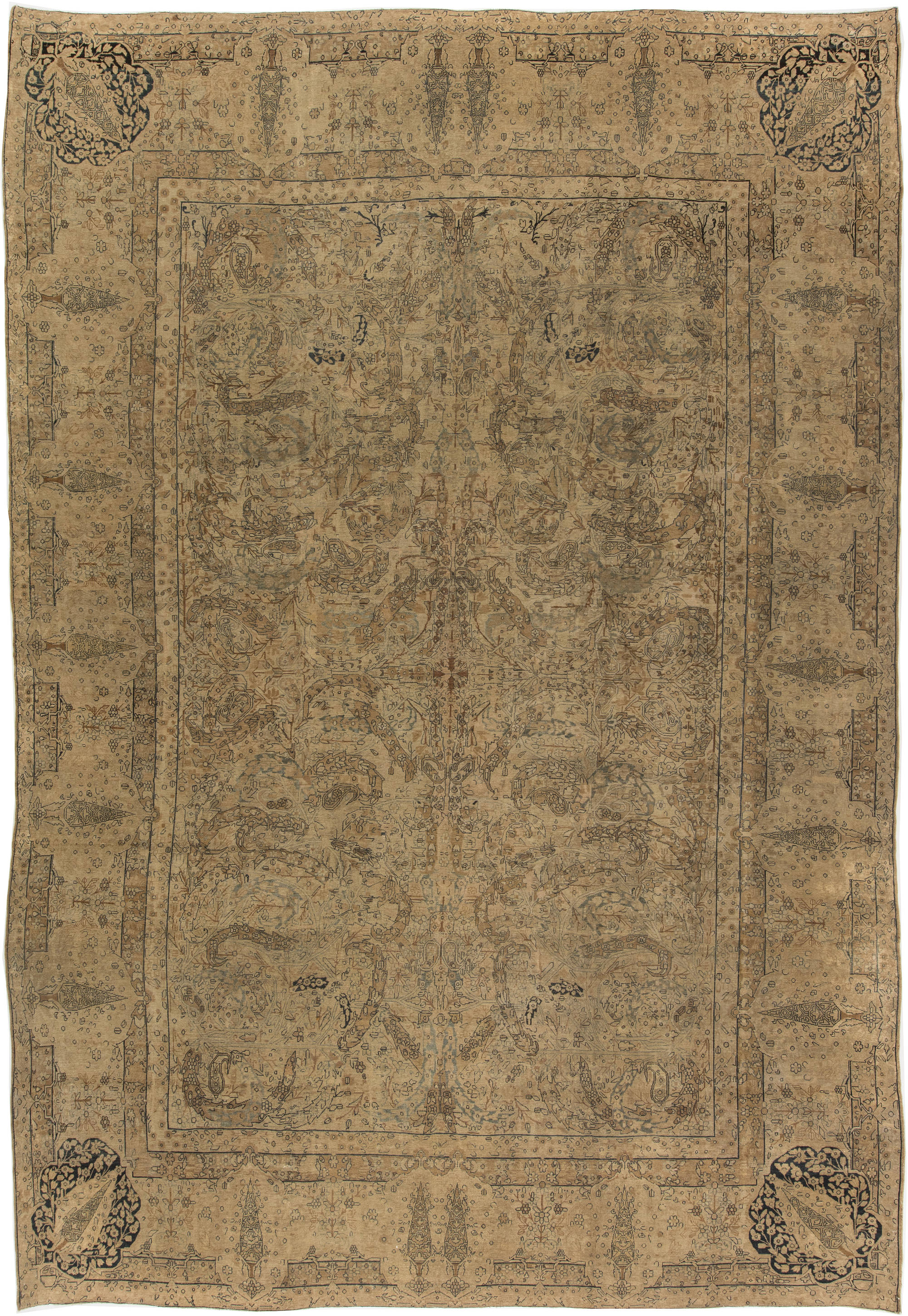 Antique Persian Kirman Rug BB4002