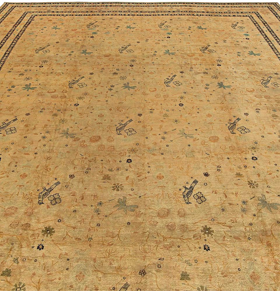 Antique Persian Kirman Rug (Size Adjusted) BB5922